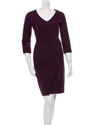 J. Mendel Long Sleeve Knee-Length Dress None