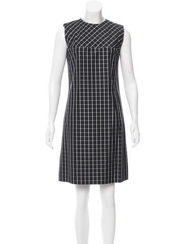 J. Mendel Silk Gingham Dress