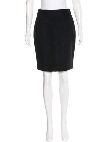 J. Mendel Fleece Pencil Skirt