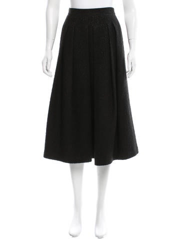 Bouclé Long Godet Skirt w/ Tags
