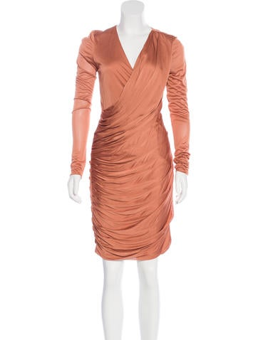 J. Mendel Ruched Long Sleeve Dress w/ Tags None