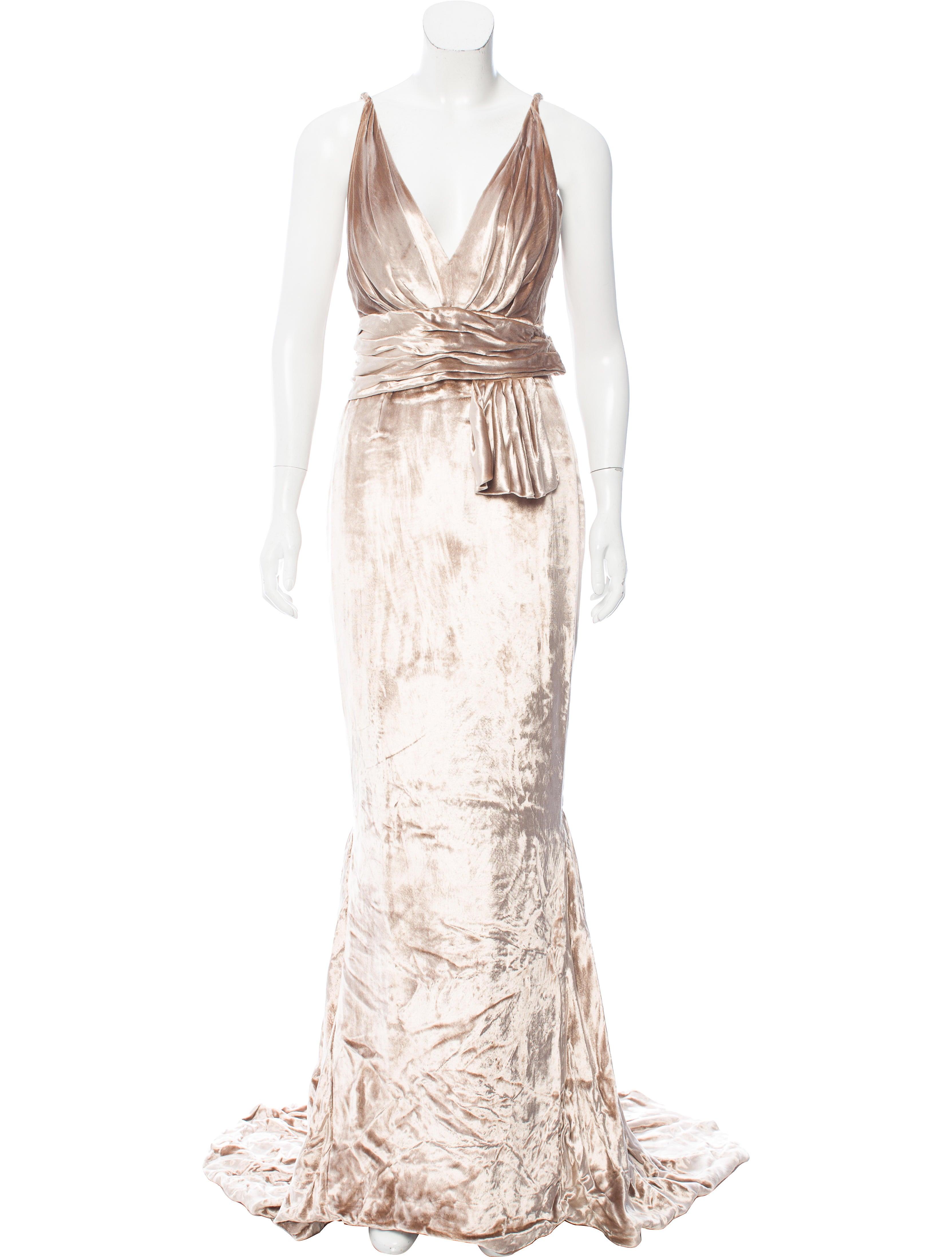 J. Mendel Velvet Evening Gown - Clothing - JME23769 | The RealReal