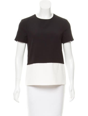 J. Mendel Silk Colorblock Top None