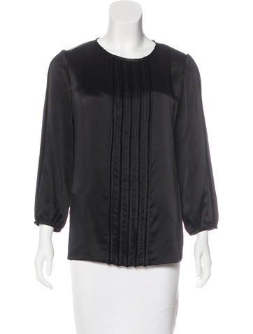 J. Mendel Silk Long Sleeve Blouse None