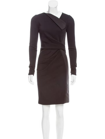 J. Mendel Wool Mini Dress Low Price Fee Shipping Online F1qrMvh2B