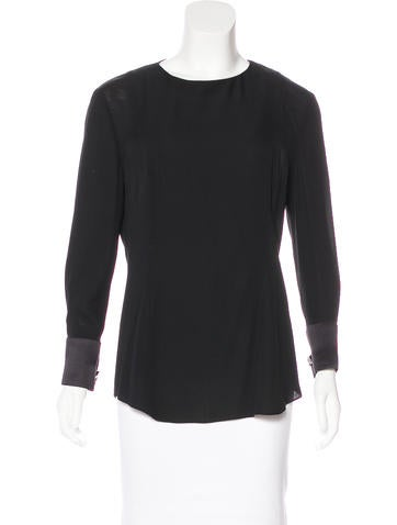 J. Mendel Crystal-Embellished Blouse None