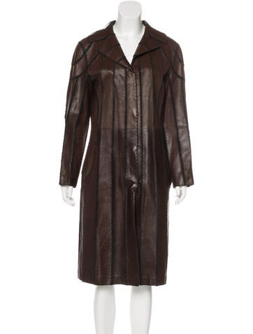J. Mendel Striped Long Coat None