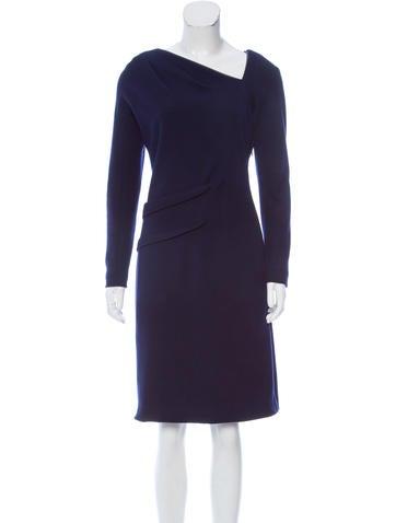 J. Mendel Long Sleeve Knee-Length Dress None