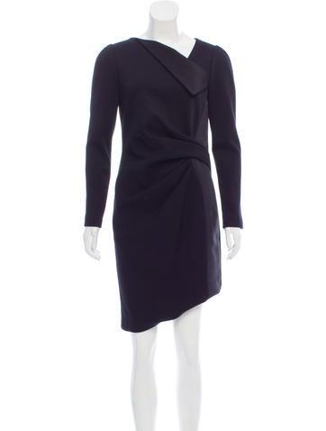 J. Mendel Knee-Length Long Sleeve Dress None