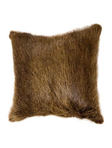 J. Mendel Fur Throw Pillow None