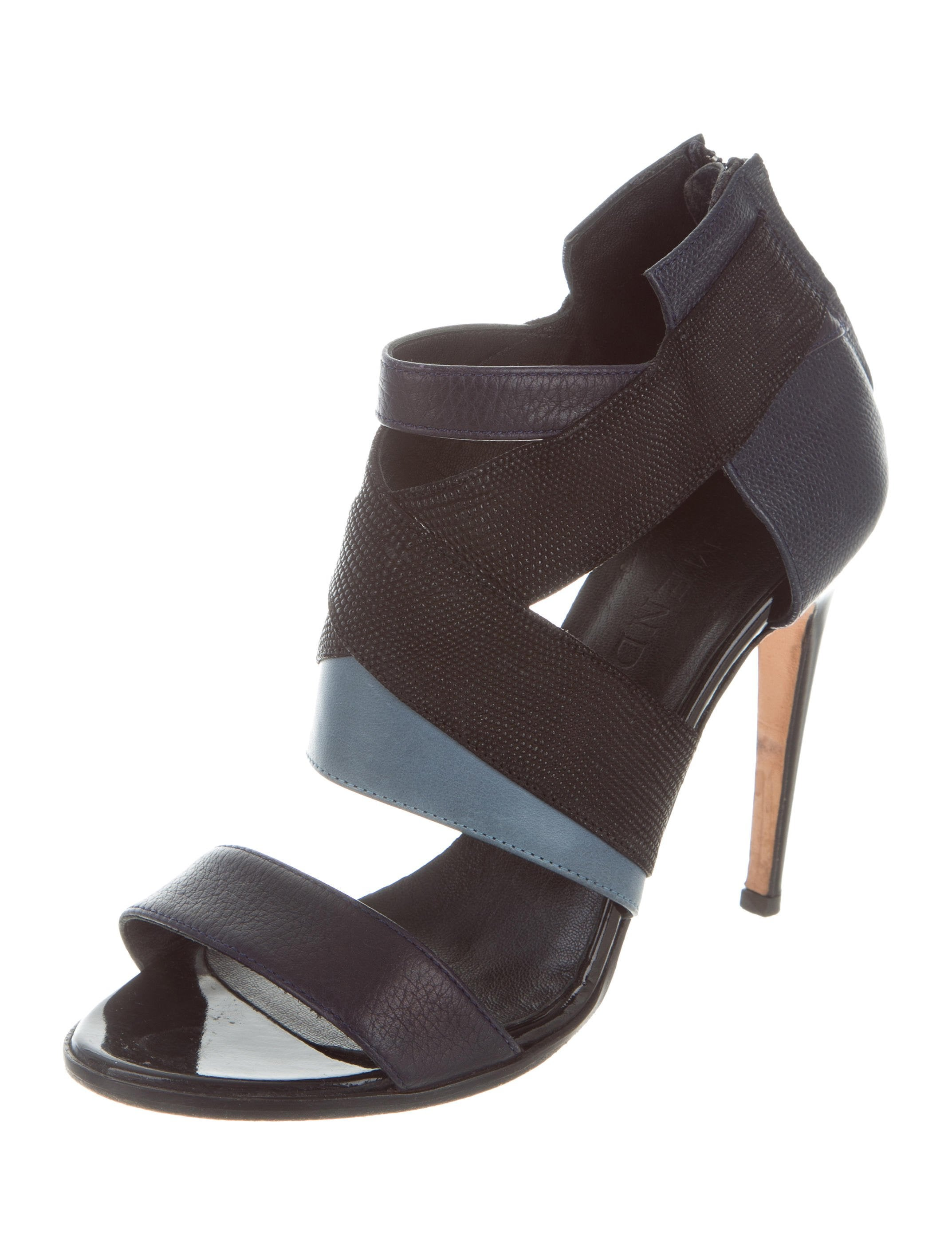 discount looking for fashionable cheap online J. Mendel Leather Caged Sandals low shipping fee wholesale price sale online cheap sale browse PgfsM4M