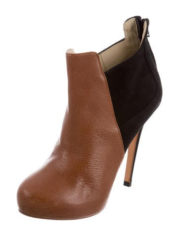 J. Mendel Leather Round-Toe Booties fake cheap price outlet latest collections with mastercard clearance clearance cheapest price yvQA4