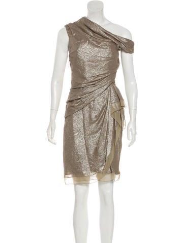 J. Mendel Metallic Cutout Dress Shop Offer Cheap Online wRQHoVNRJ