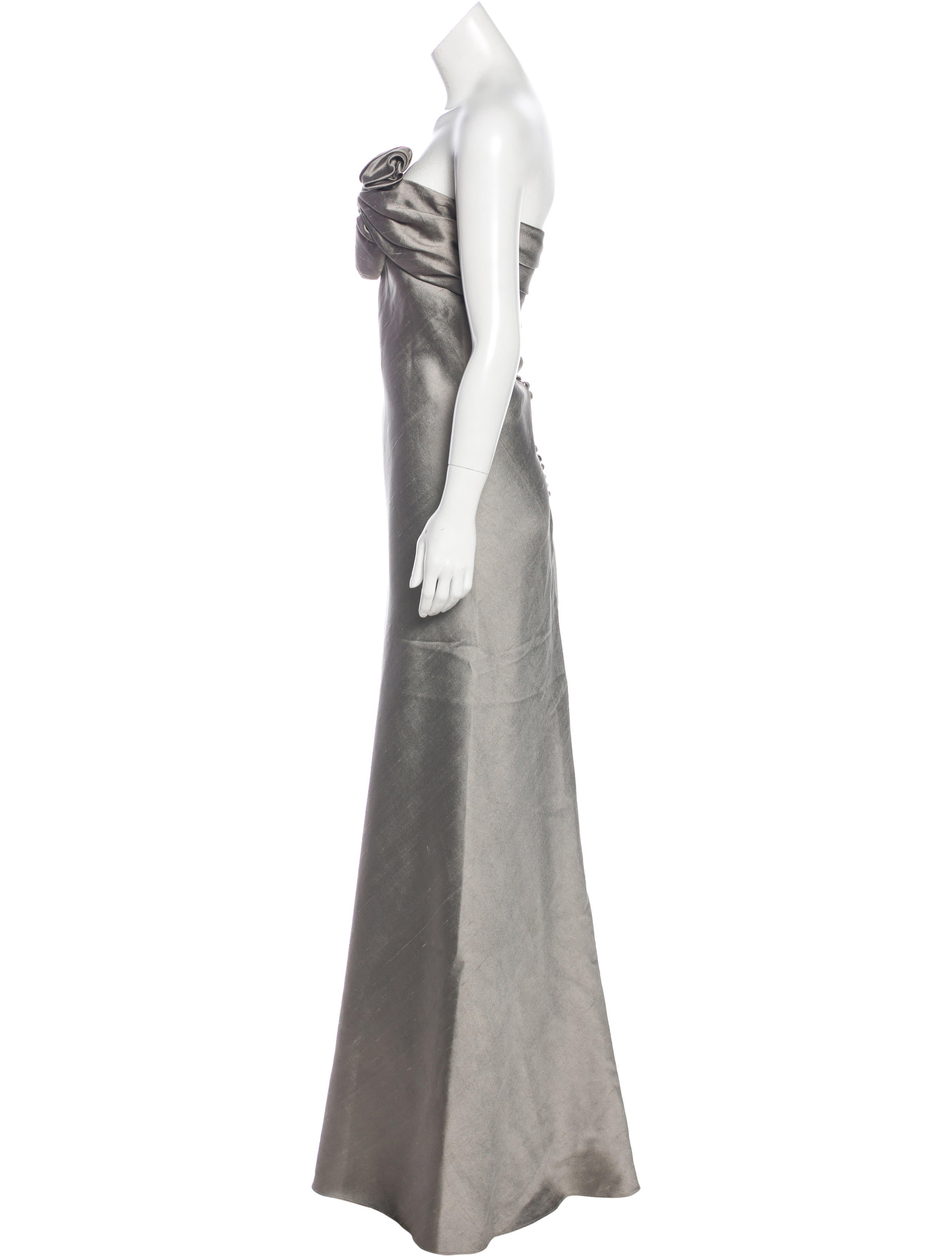 J. Mendel Strapless Evening Gown - Clothing - JME25789 | The RealReal