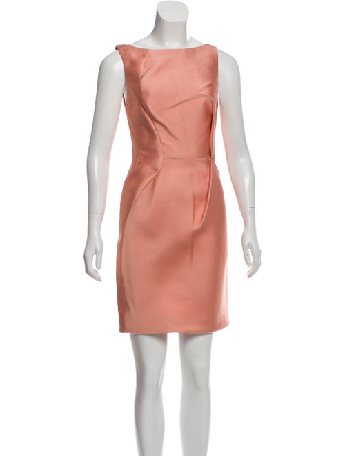 J. Mendel Satin Mini Dress Pink