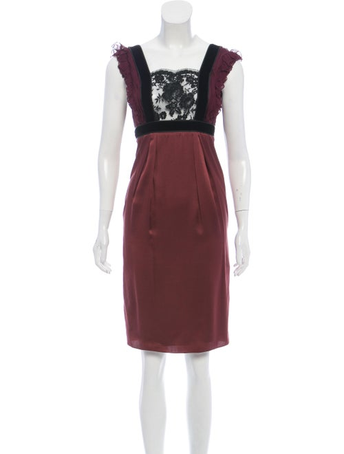 J. Mendel Silk Apron Dress black