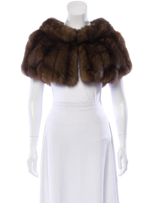 J. Mendel Sable Fur Shrug Brown