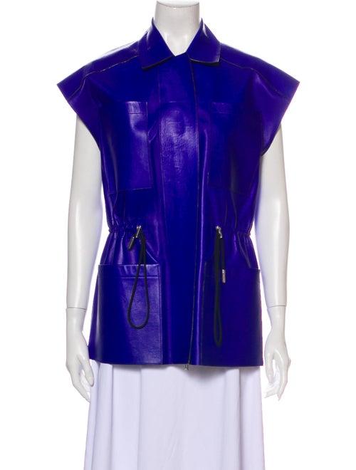 J. Mendel Leather Vest Blue