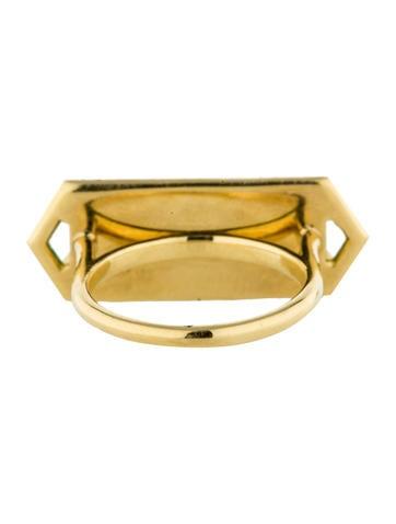 Chrysoprase and Diamond Ring