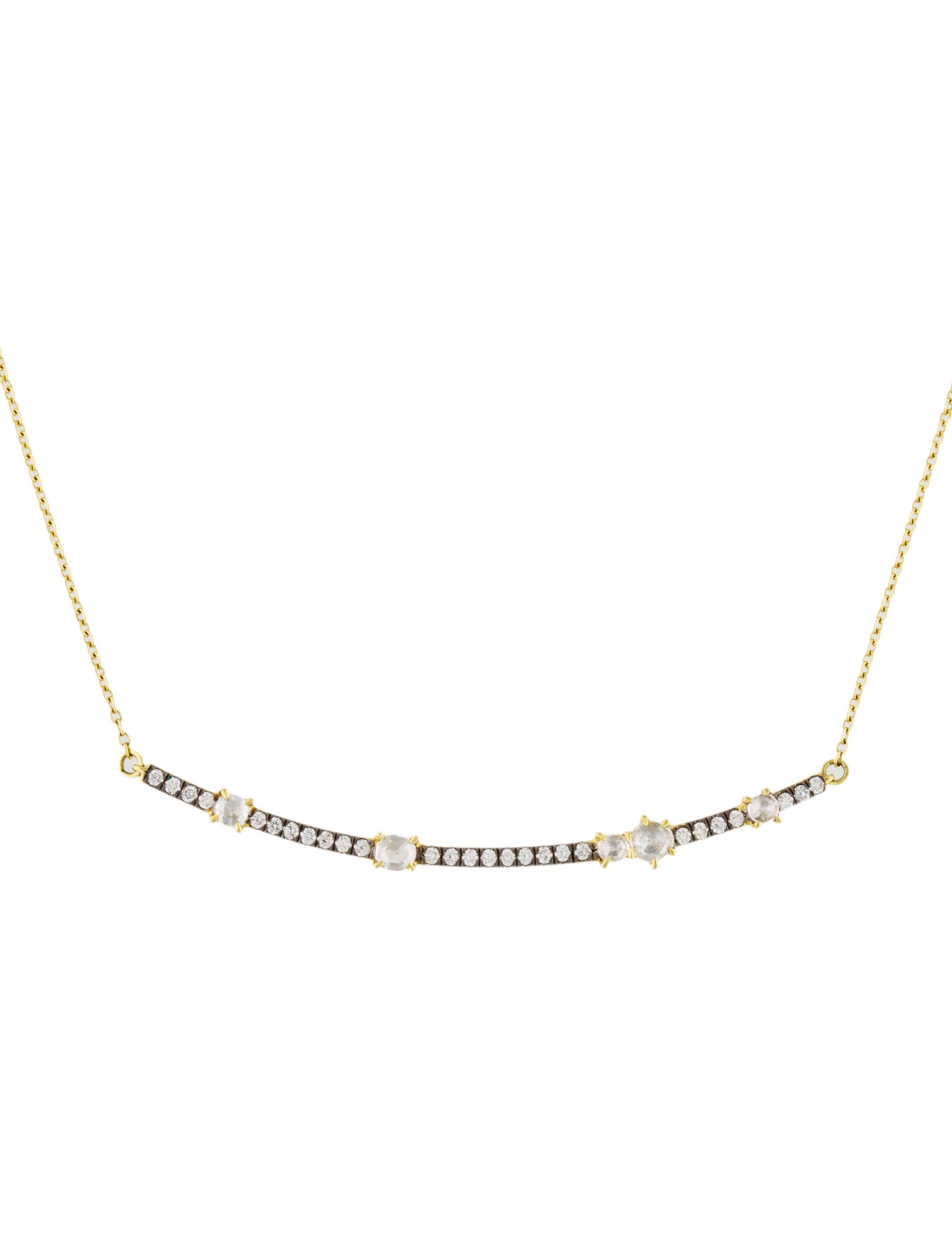 Jemma Wynne Prive Luxe Diamond Bar Necklace mulW72X72