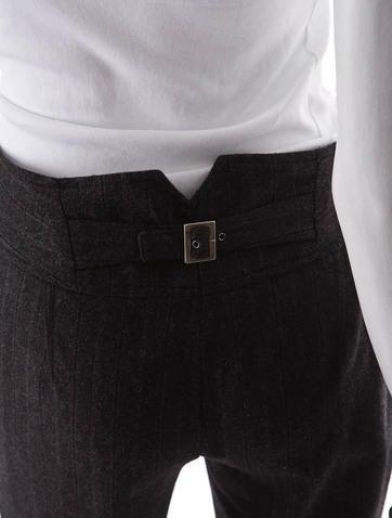 Pinstripe Wool Pants