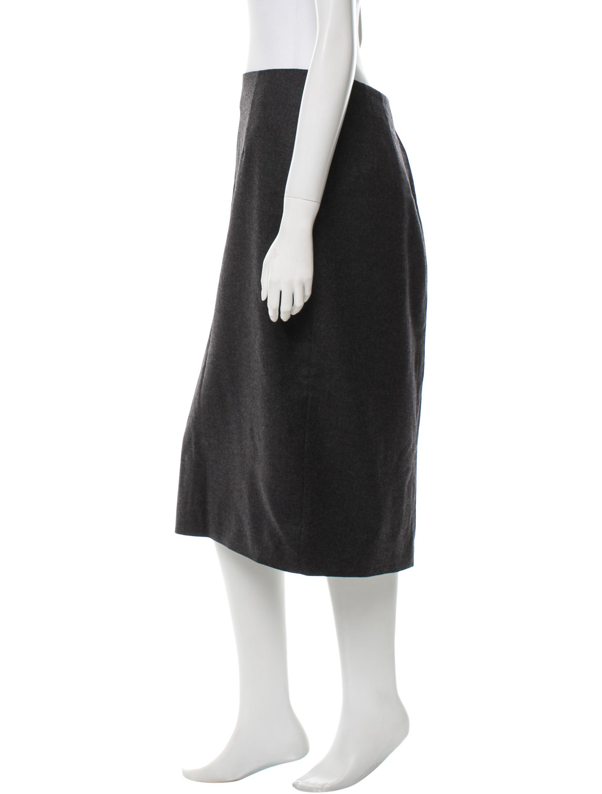 galliano wool knee length skirt clothing joh21656