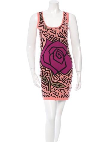 John Galliano Patterned Wool Dress w/ Tags None