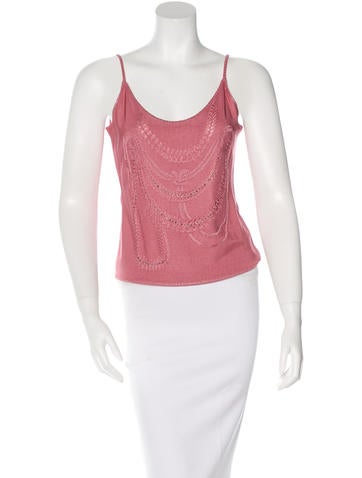 John Galliano Embellished Knit Top None