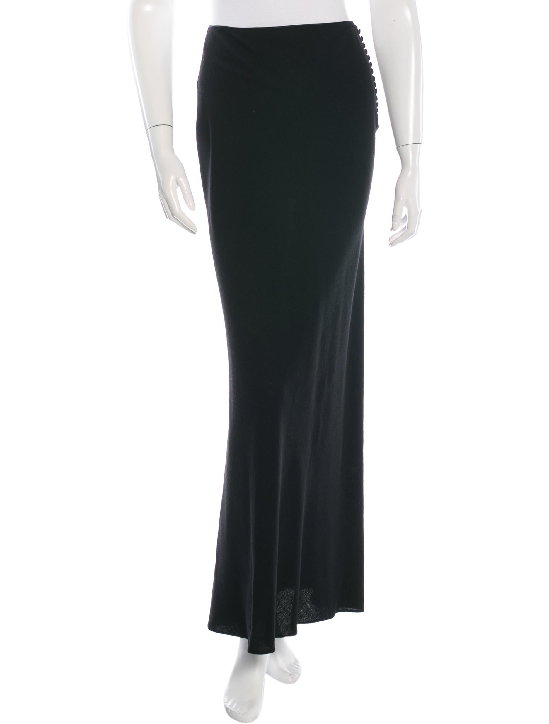 galliano wool maxi skirt clothing joh21866 the