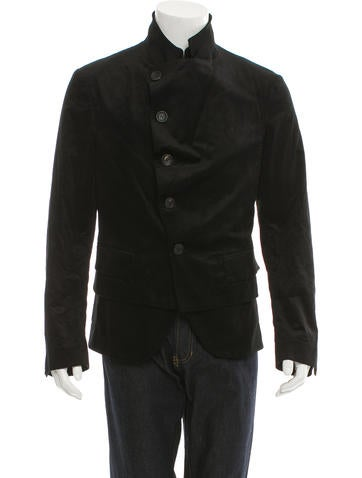 John Galliano Layered Velvet Jacket None