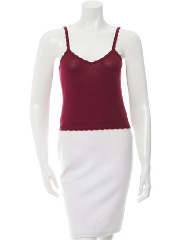 John Galliano Wool-Blend Cropped Top None