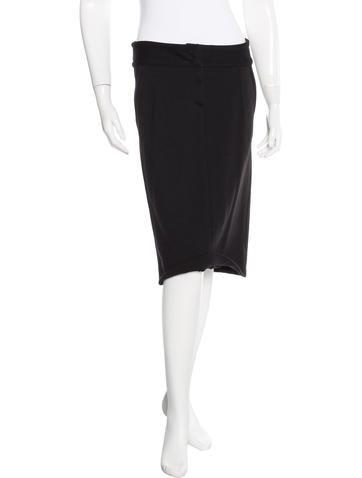 John Galliano Wool Knee-Length Skirt None
