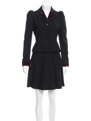 John Galliano Wool Skirt Suit None