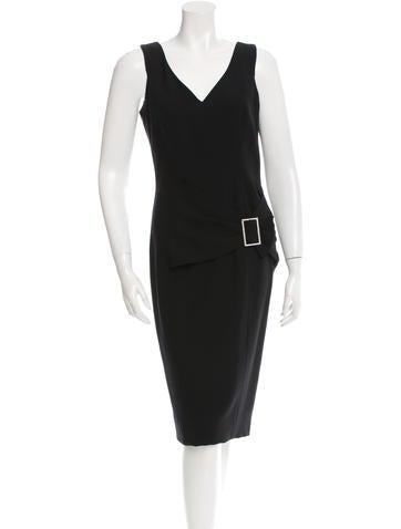 John Galliano Wool Embellished Dress None