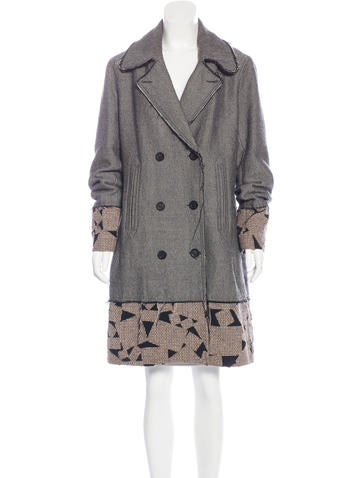 John Galliano Wool Double-Breasted Coat None