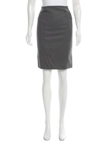 John Galliano Wool Lace-Trimmed Skirt None