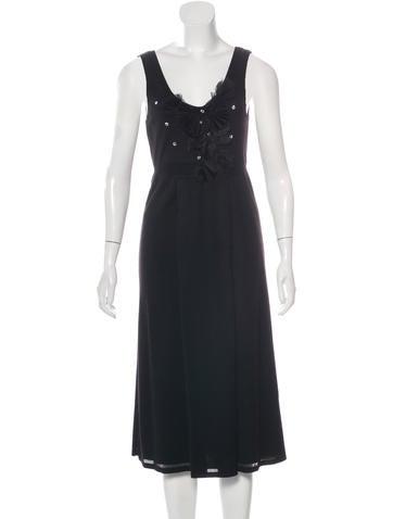 John Galliano Embellished Sleeveless Dress None