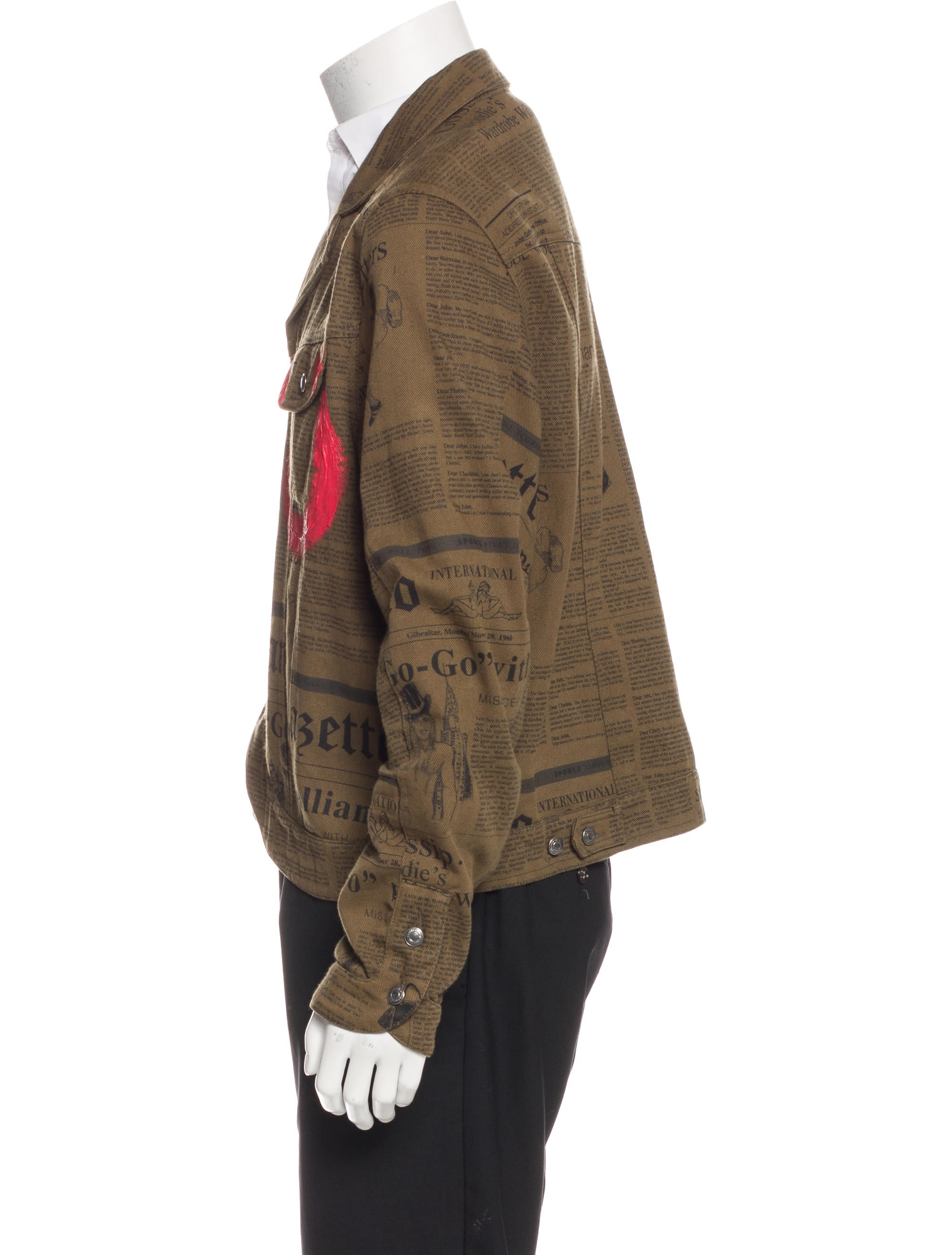 John Galliano Newspaper Print Jacket Clothing Joh22463