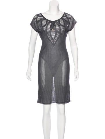 John Galliano Rib Knit Sweater Dress None