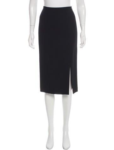 John Galliano Knee-Length Wool Skirt None