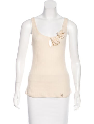 John Galliano Sleeveless Knit Top None