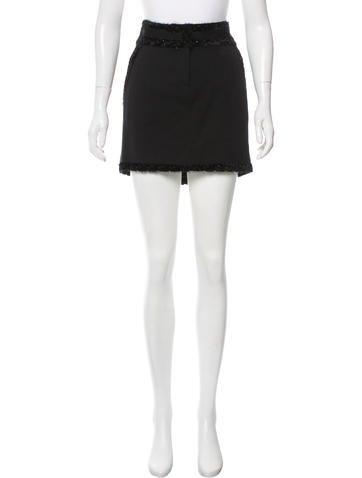 John Galliano Wool Mini Skirt None