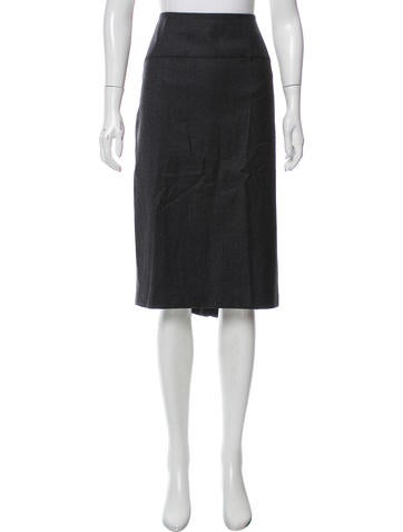 John Galliano Wool & Cashmere Skirt None