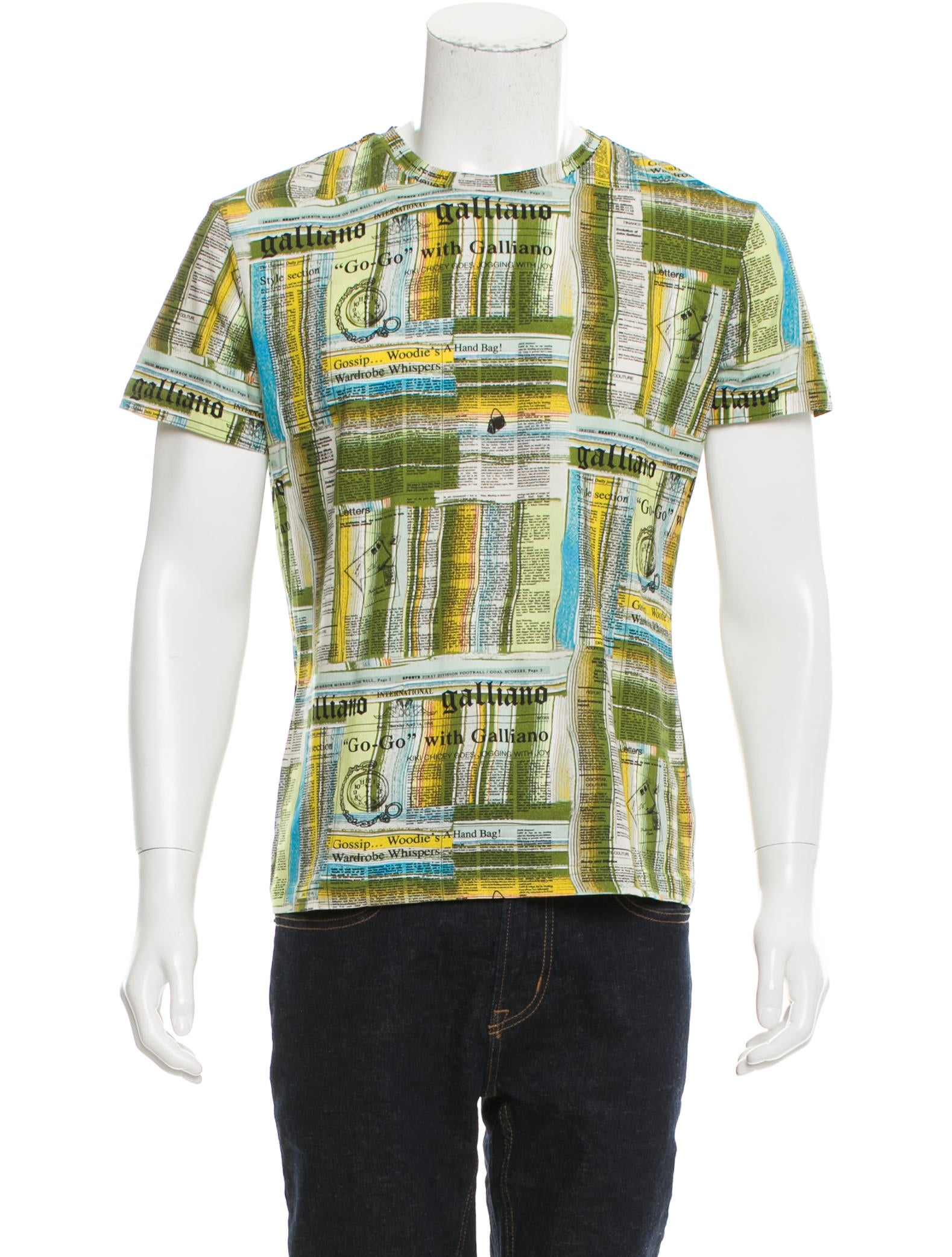 John galliano graphic print t shirt w tags clothing for T shirt graphic printing