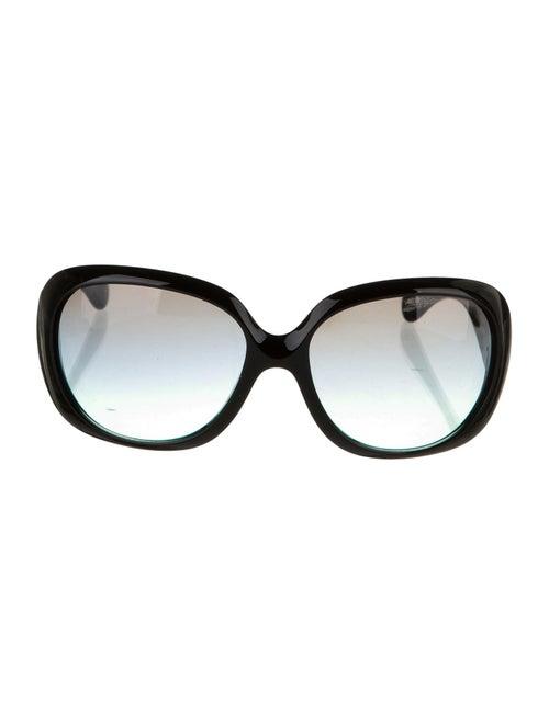 John Galliano Oversize Gradient Sunglasses Black