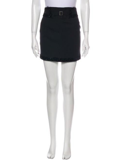 John Galliano Wool Mini Skirt Wool