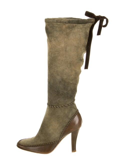 John Galliano Suede Boots Green