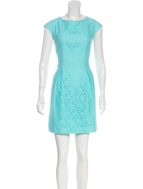 John Galliano Bateau Neck Mini Dress Blue