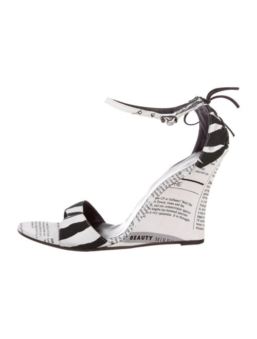 John Galliano Printed Sandals