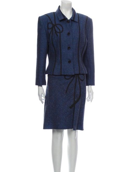 John Galliano Vintage 2001 Skirt Suit Wool